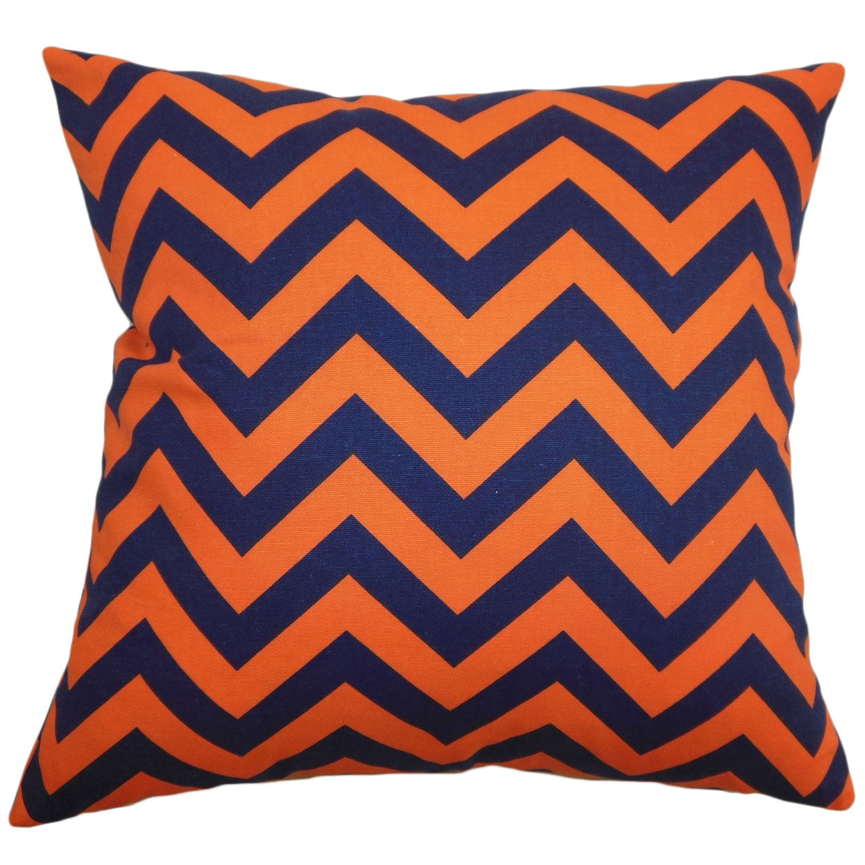 The Pillow Collection Xayabury Zigzag Pillow 20 by 20 Yellow//Black