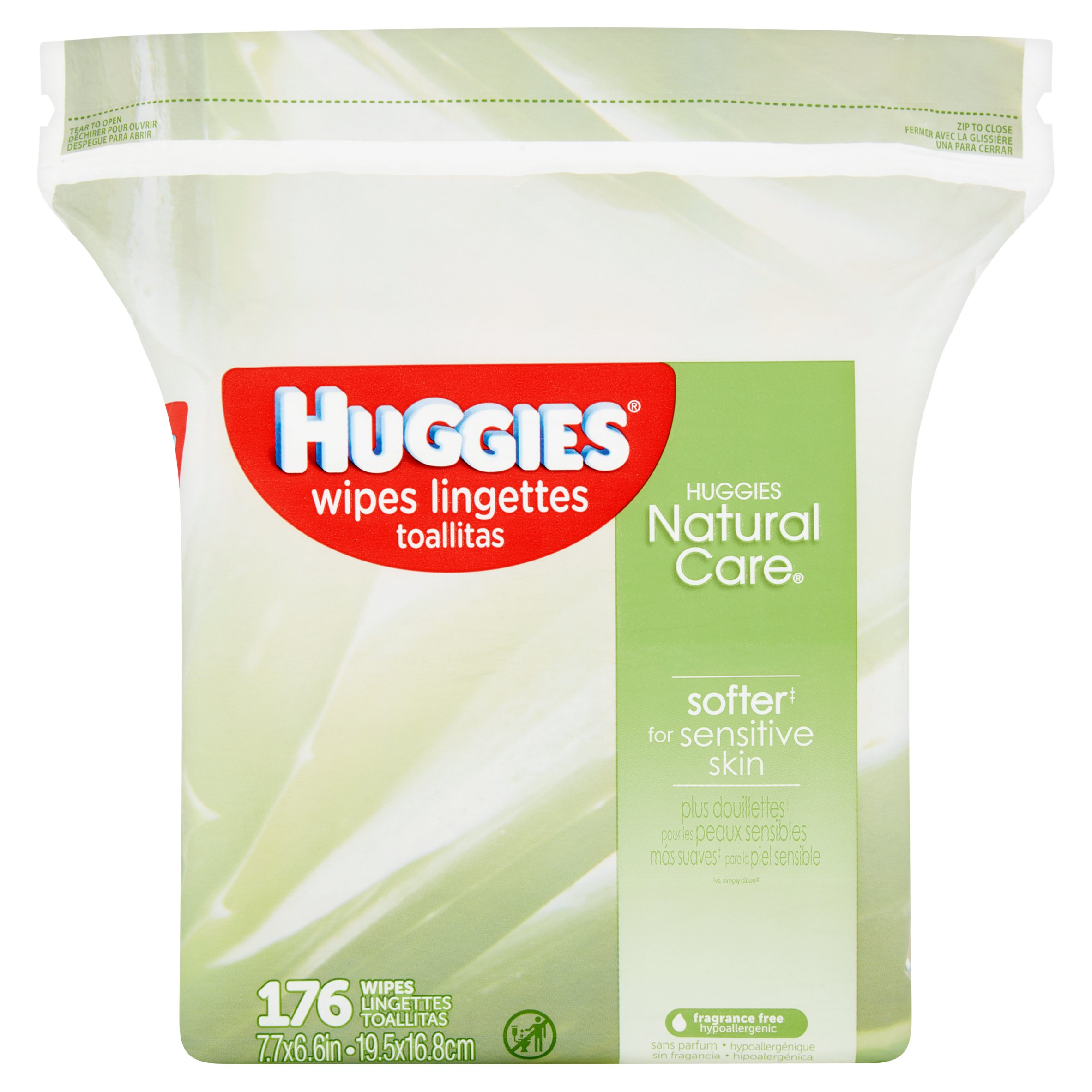 Huggies Natural Care Baby Wipes, Refills, Sensitive, Unscented (176 count)