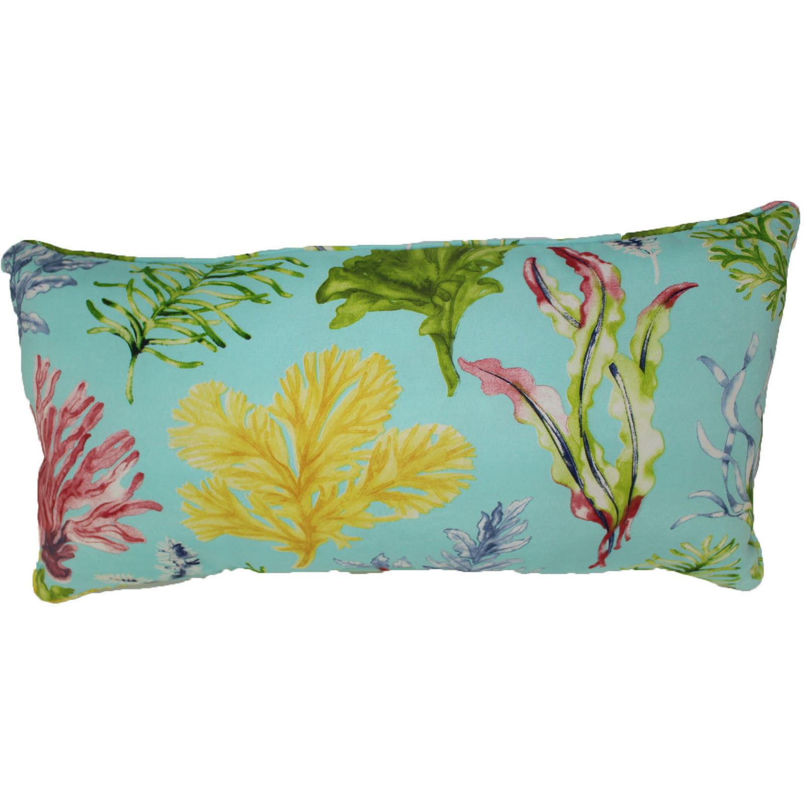 """lava Ocean Plants Indoor Outdoor Pillow, 12"""" x 24"""" by Lava"""