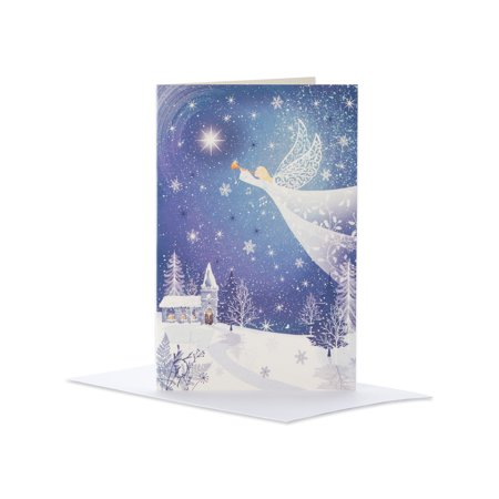 (14ct) American Greetings Deluxe Angel Christmas Boxed Cards and Envelopes - Tinkerbell Christmas Cards