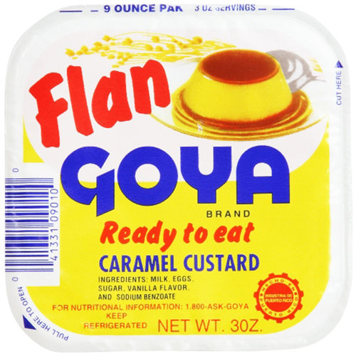 Goya Flan Caramel Custard, 3 oz, 3 ct