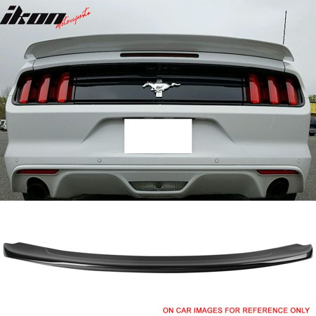 Mustang Wing (15-18 Ford Mustang GT350 2Dr Coupe GT Track Pack Trunk Spoiler Lip Wing - ABS)
