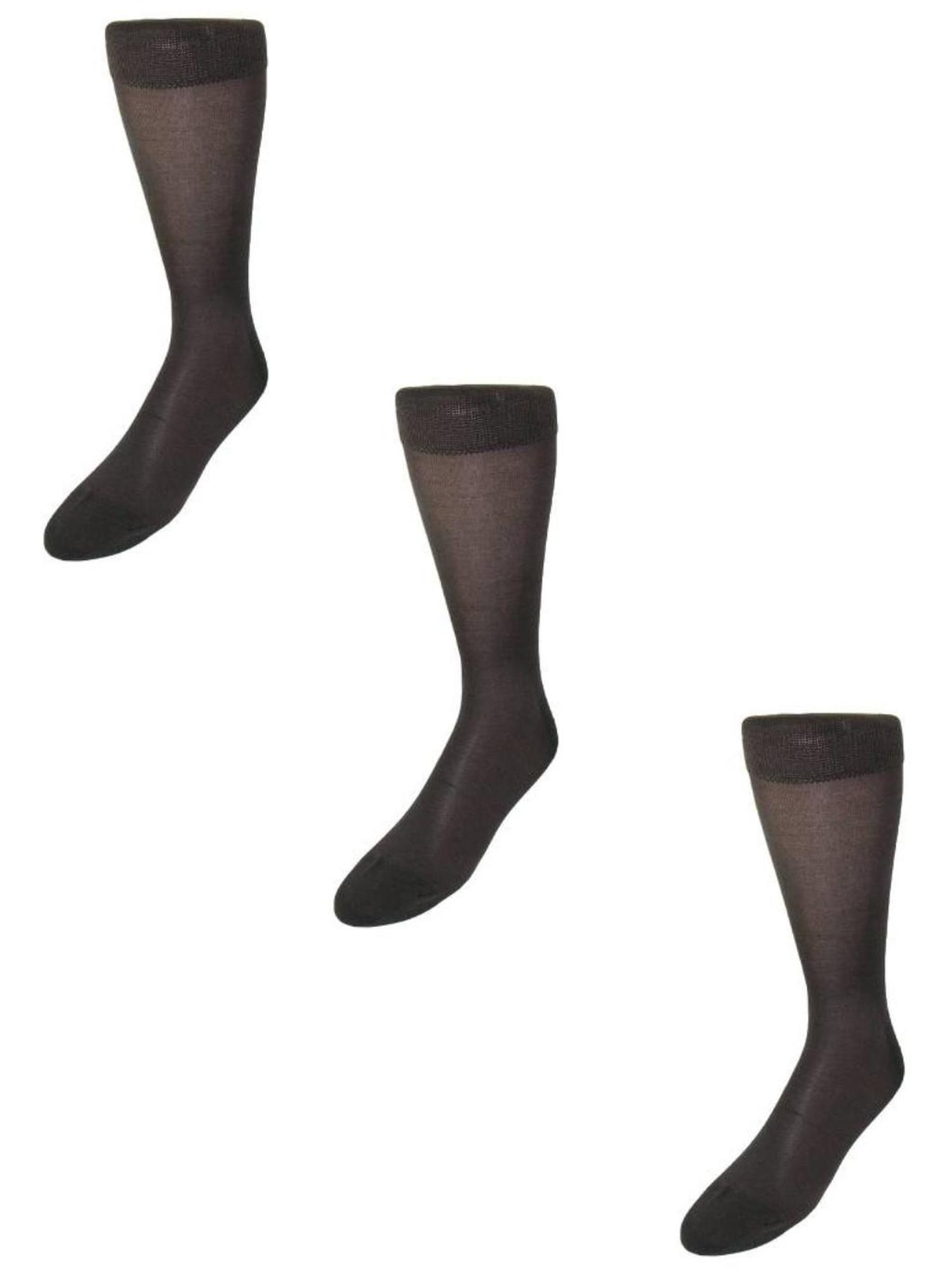 Size one size Men's Silk Mid Calf Dress Socks (Pack of 3)