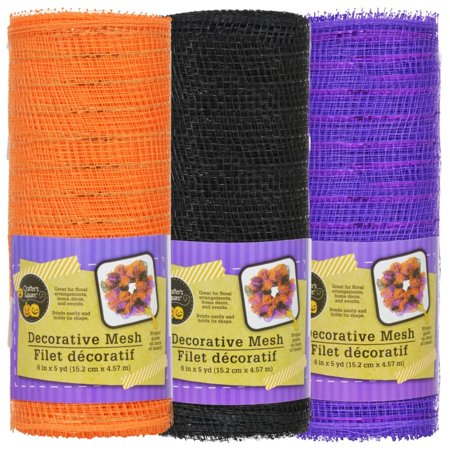 Halloween Mesh Decorations (Crafter's Square Decorative Halloween Mesh, 5 yd.)
