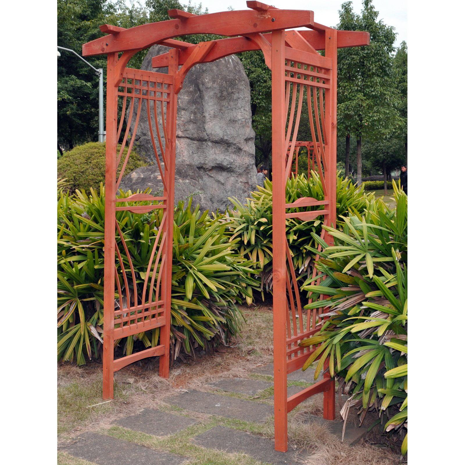 Merveilleux Gardman 7u0027 Gothic Steel Garden Arbor   Black