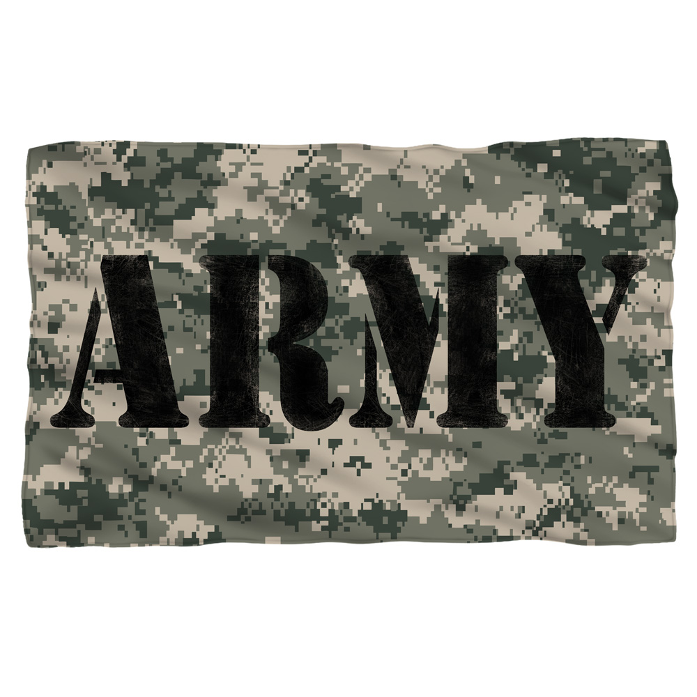 United States Army Armed Forces Military Services Camo Fleece Blanket
