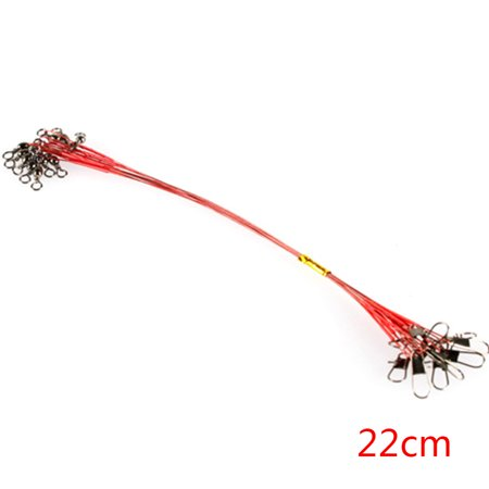 10pcs Fishing Wire Leaders Stainless Steel Braided Trace Spinning Leader Rigs Steel Wire Fishing Line thumbnail
