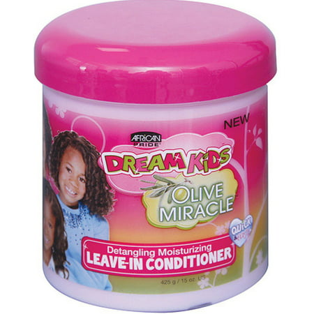 African Pride  Dream Kids Olive Miracle Leave-In Conditioner, 15 oz (Pack of