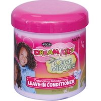 African Pride  Dream Kids Olive Miracle Leave-In Conditioner, 15 oz (Pack of 2)