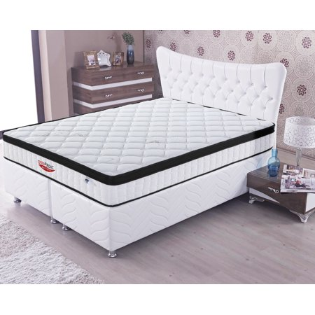 Euro Top Mattress - OttoPEDIC 10 Inch Euro Top Firm Bamboo Innerspring Pocketed Coil Mattress