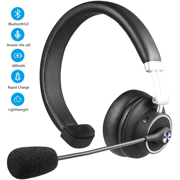 Luxmo Over The Head Noise Canceling Bluetooth Headphone Trucker Bluetooth Headset Wireless Earpiece With Mic Office Headset For Desk Phone Cordless V4 1 Bluetooth Headset For Office Phone Walmart Com Walmart Com