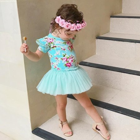 Infant Kids Baby Girls Floral Dress Princess Party Summer pageant Dresses - image 2 of 5