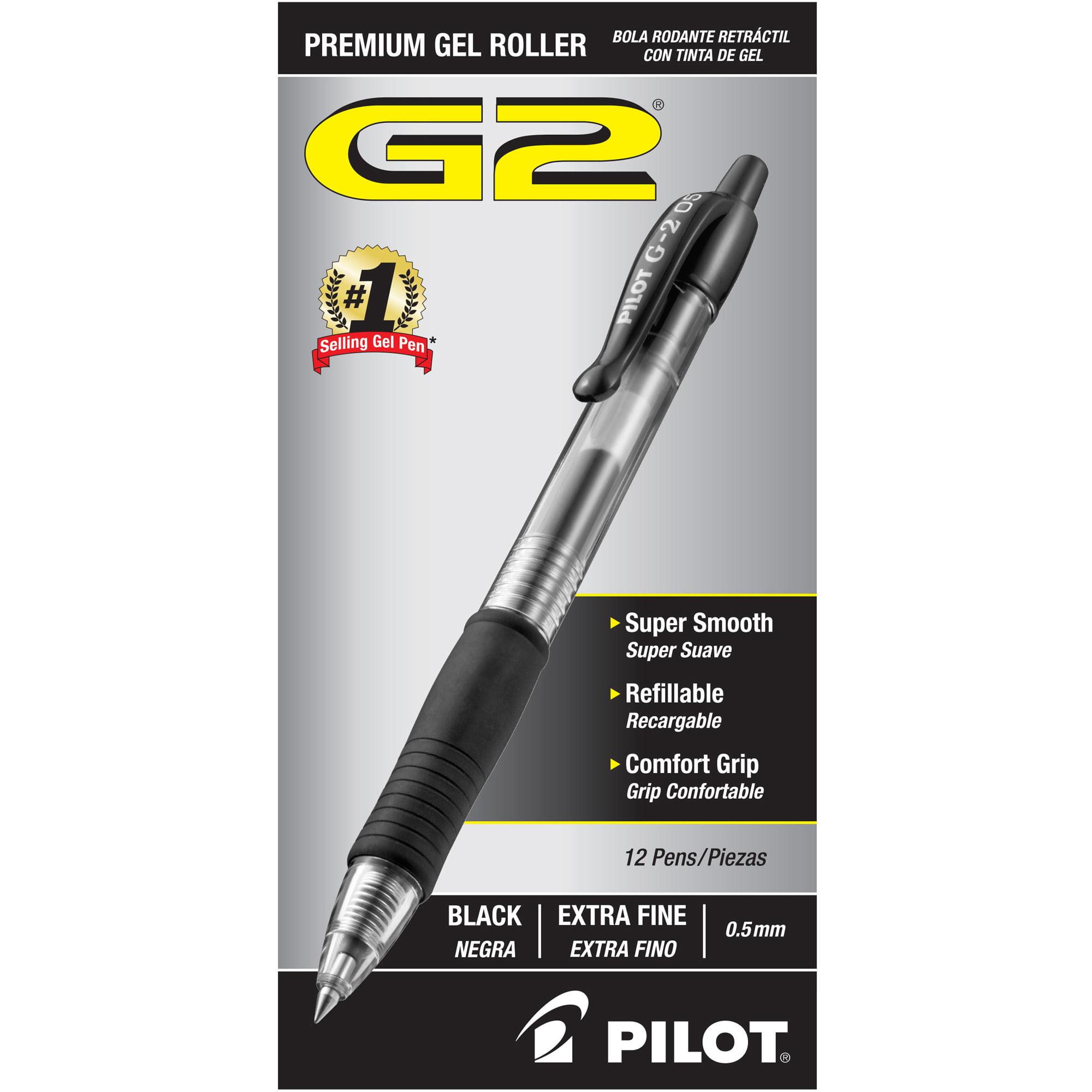 Pilot G2 Extra Fine Retractable Rollerball Pens, 1 Dozen (Quantity)