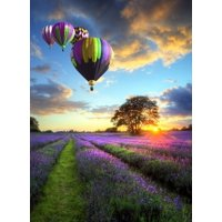 """Jigsaw Puzzles 500 Pieces """"Hot-Air Balloons At The Sunset"""" Gold Edition  by Wuundentoy"""