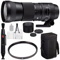 Sigma 150-600mm f/5-6.3 DG OS HSM Contemporary Lens for Canon EF + 95mm UV Filter + Deluxe Cleaning Kit + Lens Cleaning Pen Bundle...International Model