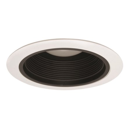NICOR Lighting 6-Inch Cone Baffle Trim, Black Baffle with White Trim Ring (Ring Black Baffle)
