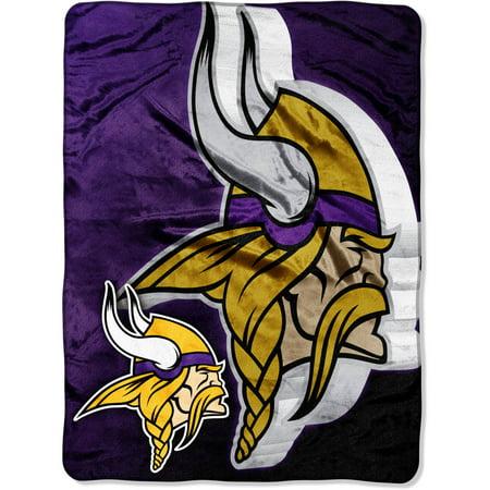 Nfl Minnesota Vikings 60   X 80   Oversized Micro Raschel Throw
