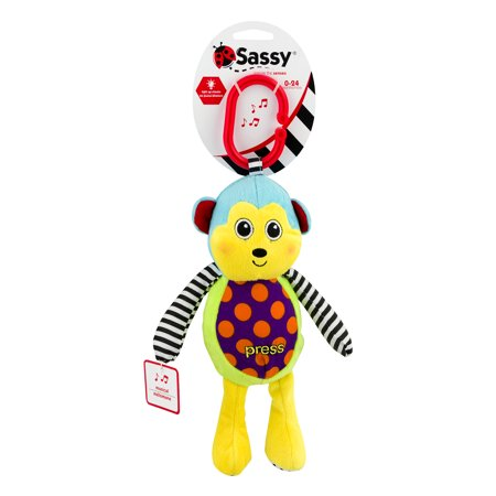 Sassy Sound & Light Monkey 0-24 Months, 1.0 (Best Sassy Rattle)