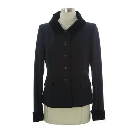 Women Wool Blazer - PAUW Women's Velvet Collar Wool Blazer