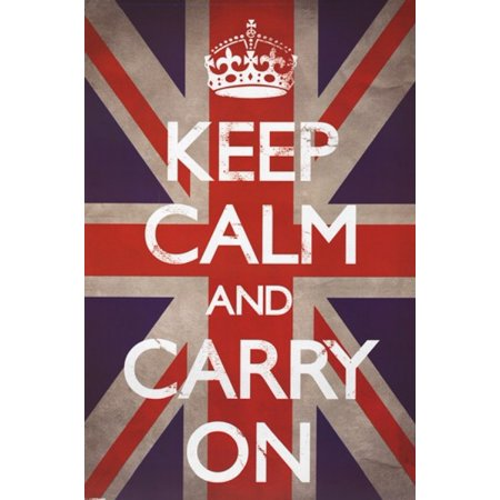 Keep Calm & Carry On - Union Jack Poster Poster