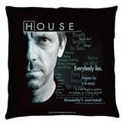 House Houseisms Throw Pillow White 26X26