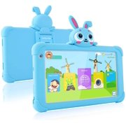 Tablet for Kids 7 inch Kids Tablet with Case Kids Game Tablet Upgraded Tablets for Kids 1GB 16GB Kid Friendly Tablet IPS Safety Eye Protection Screen Kids First Tablet Parental Controls (Blue)