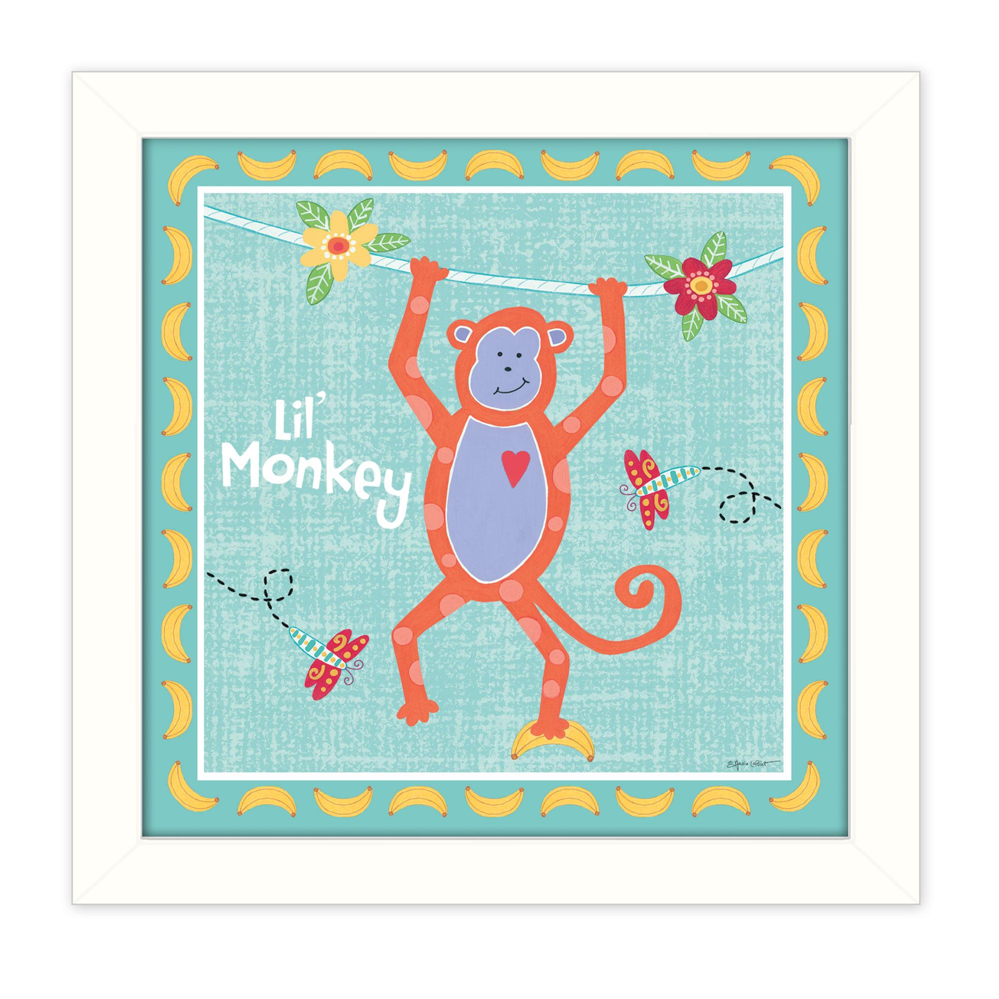Beetle And Bob Baby Monkey By Annie Lapointe Printed Framed Wall Art Walmart Canada