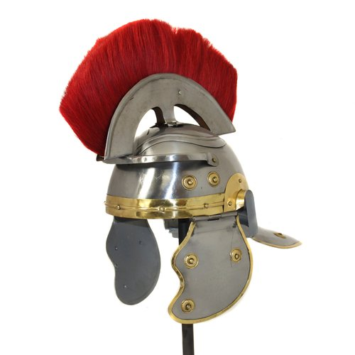 EC World Imports Antique Replica Roman Centurion Red Plume Galea Helmet by ecWorld Enterprises