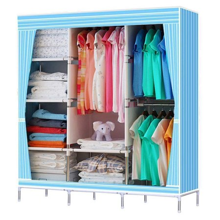 68 70 Portable Clothes Closet Storage Kits Organizer Wardrobe Rack With Shelves