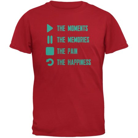 Inspirational Play The Moments Red Adult T-Shirt