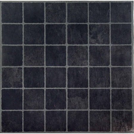 NEXUS Dark Slate Checker Board Inch X Inch Self Adhesive Vinyl - Black and white square vinyl flooring