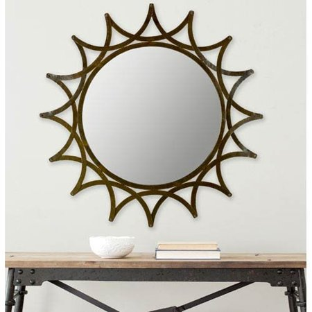 Safavieh Home Collection New Mayan Star Mirror, Warm Amber