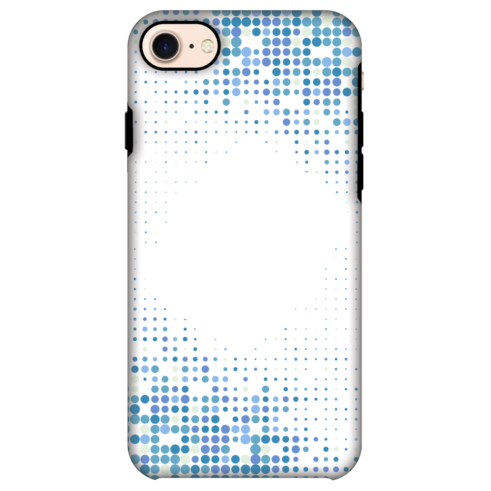 iPhone 8 ShockProof Case, Premium Handcrafted Printed Designer Dual Layer Case Back Cover for iPhone 8 - Blue Matrix