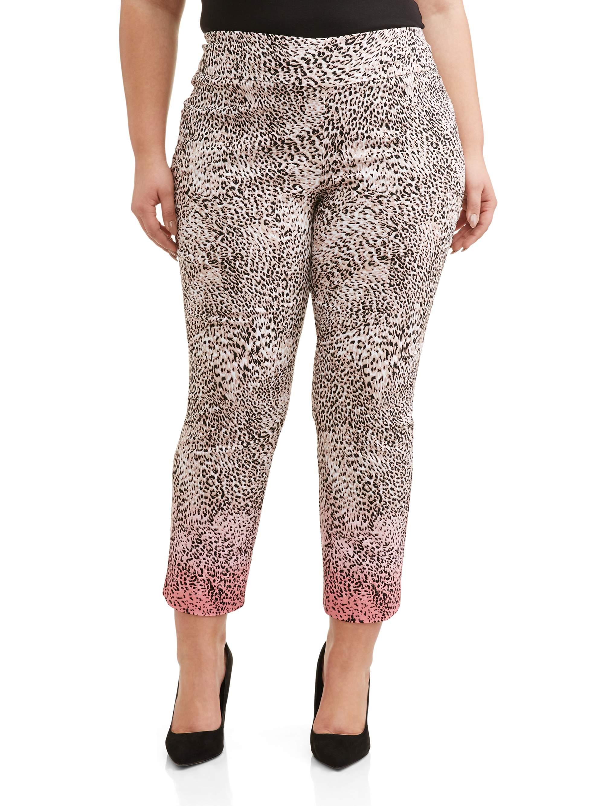 Women's Plus Size Ombre Leopard Print Pant