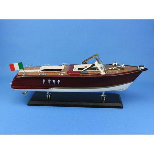 Hand Craft Model Handcrafted Nautical Decor 14'' Riva Aqu...