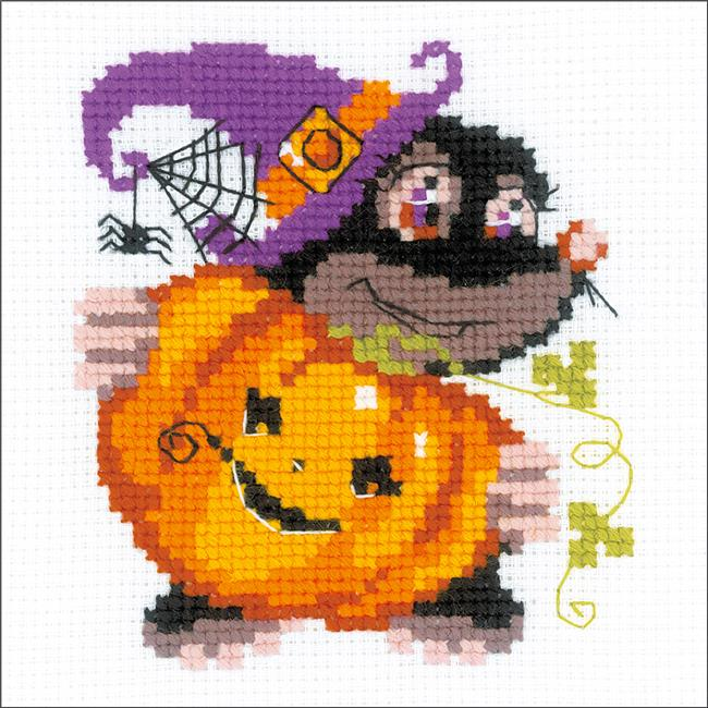 6 x 6 in. Happy Halloween Counted Cross Stitch Kit - 10 Count