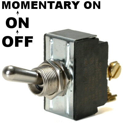 K-Four Off / On / Momentary On For Ignition Start 20 Amp Toggle Switch With Screw Terminals