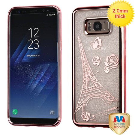 For Samsung Galaxy S8 Plus Sheer Glitter Premium Silicone Candy Skin Case Cover ()