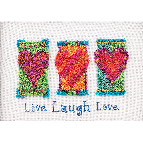 "Dimensions Live, Laugh, Love Punch Needle Kit, 7"" x 5"""