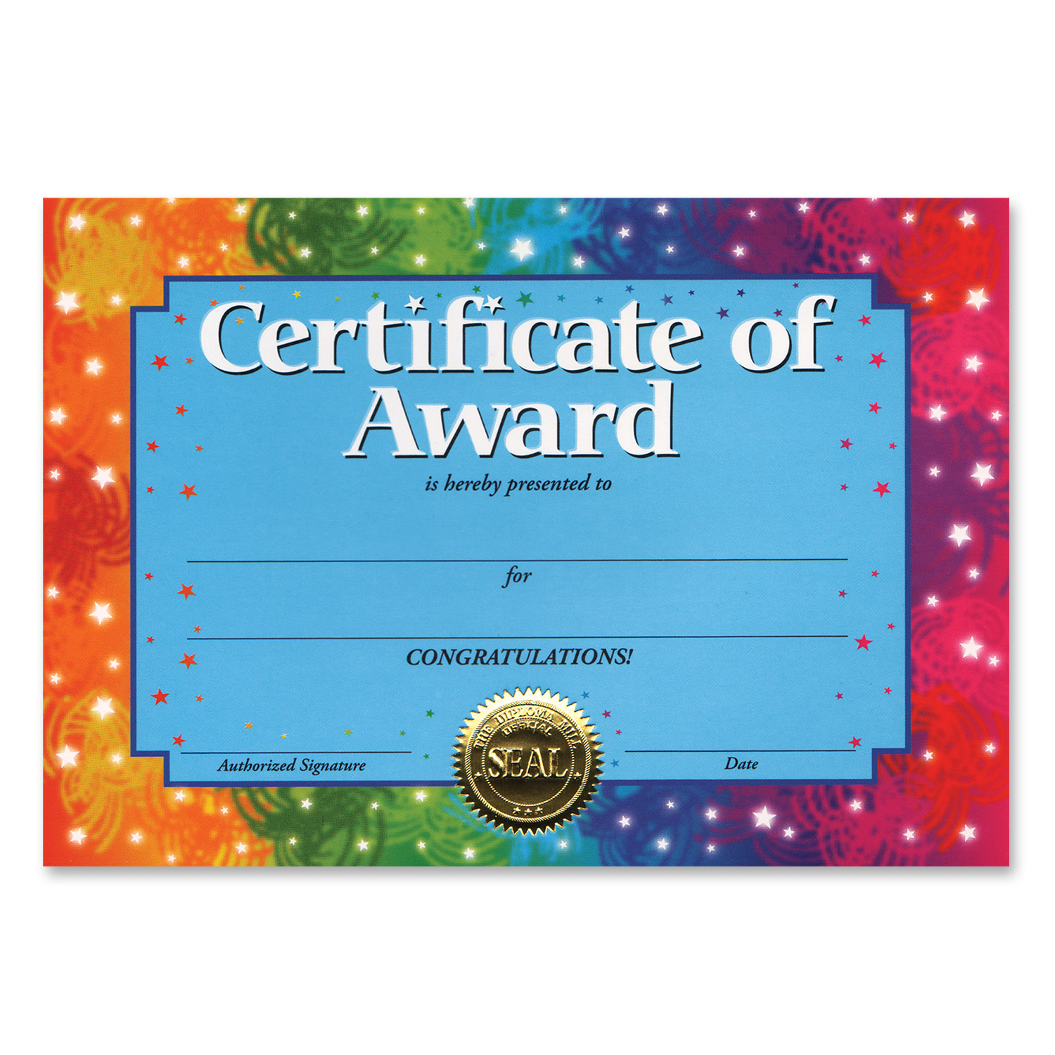 Certificate Of Award Pack Of 6