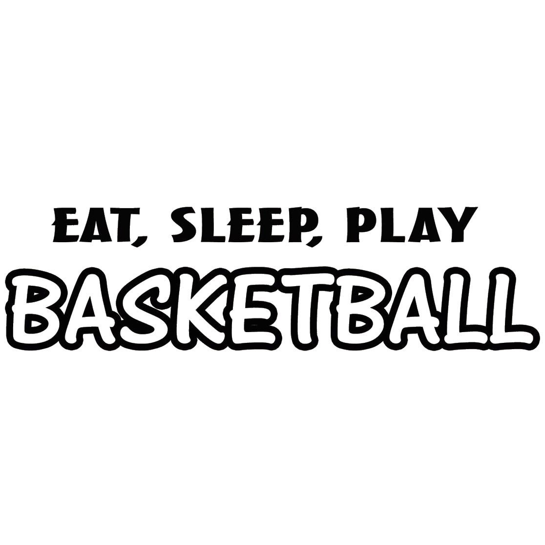 VWAQ Eat Sleep Play Basketball Wall Decal Sports Wall Quote Saying Athletics Boys Room Decor Mural Stickers Basketball Sayings