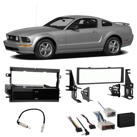 ford mustang 2008 2009 single din stereo harness radio. Black Bedroom Furniture Sets. Home Design Ideas