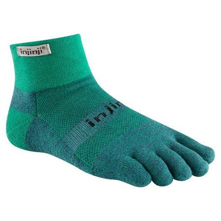 Injinji NEW Trail 2.0 Mid-Weight Mini-Crew Performance Sport Socks