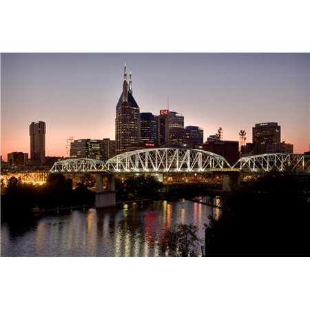 Laminated Poster Conversations Nashville Skyline Glossy Poster Tennessee Music City Athens Poster Print 24 x 36](Party City Nashville West)