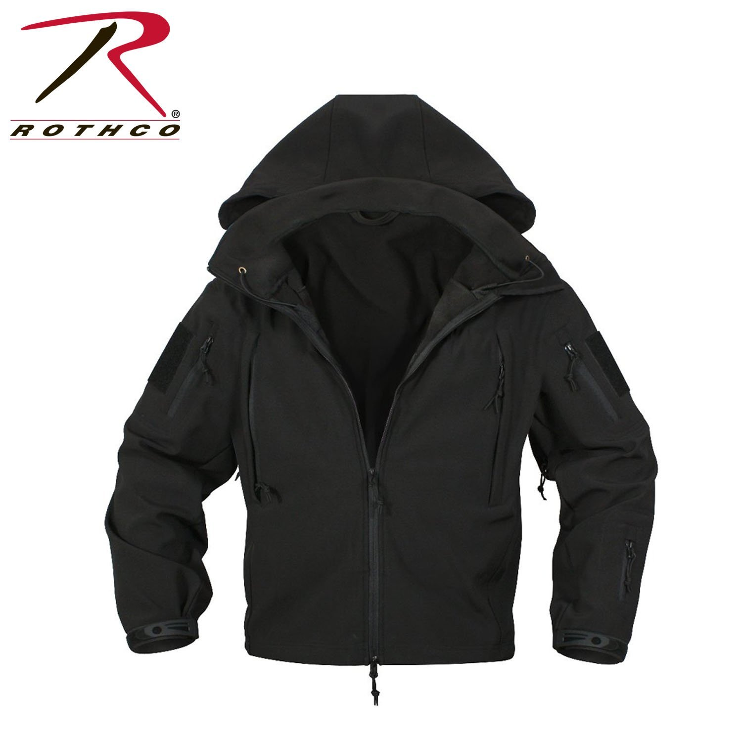 Rothco Special Ops Tactical Soft Shell Jacket - Black, Small