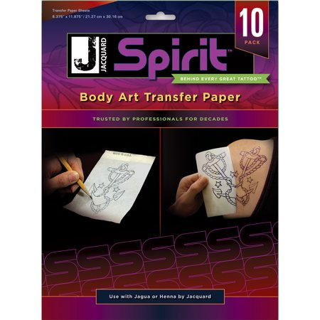 Body Art Transfer Paper 10 - Wax Free Transfer Paper
