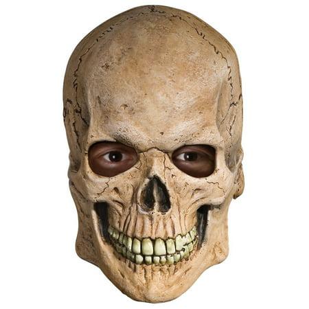 Crypt Skull Horror Skeleton OVerhead Latex Mask Halloween Costume Accessory (Horror Mask Shop)