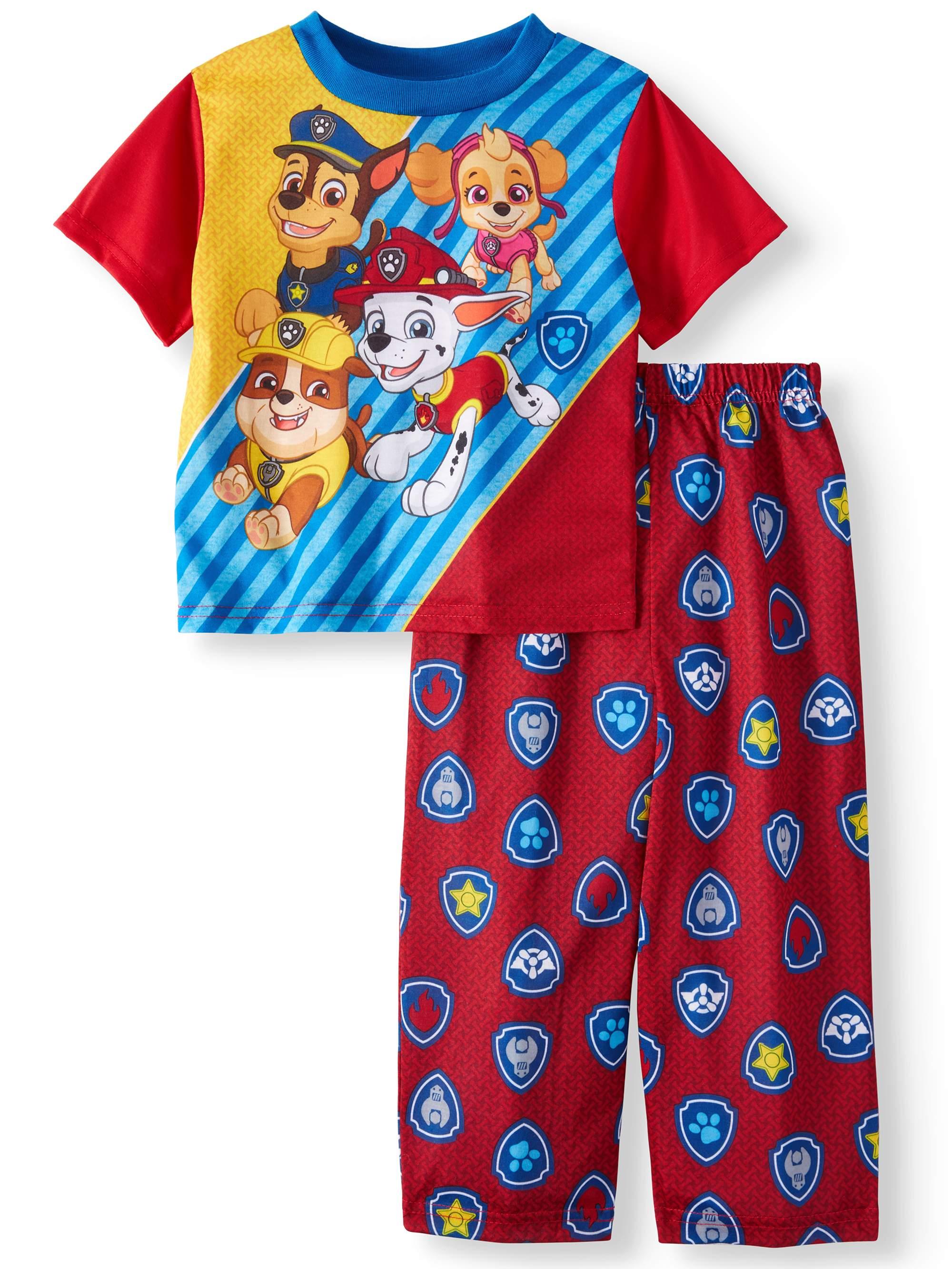 Toddler Boys' Short Sleeve Top and Pants, 2-Piece Pajama Set