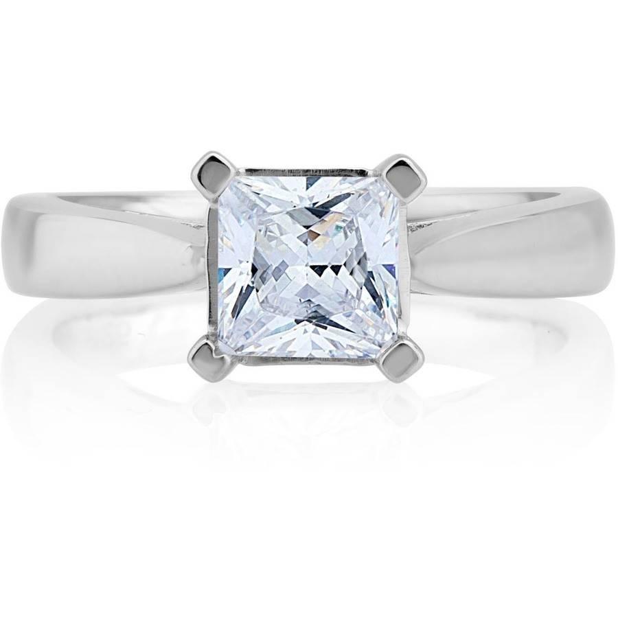 Carina 1-1/4 Carat T.W. Certified Princess Diamond 14kt Gold Solitaire Ring