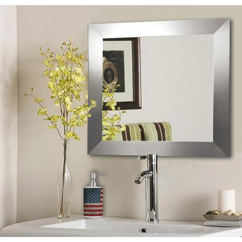 American Made Rayne Silver Wide Wall Mirror 21.5 x 21.5